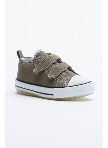Tonny Black Haki Çocuk Spor Ayakkabı Işıklı Cırtlı Tb997 Haki